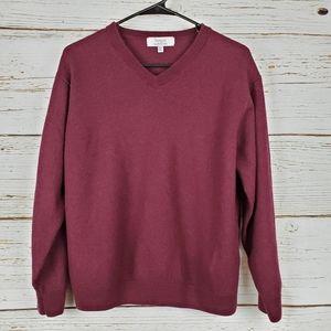 Turnbury Burgundy Wool Sweater